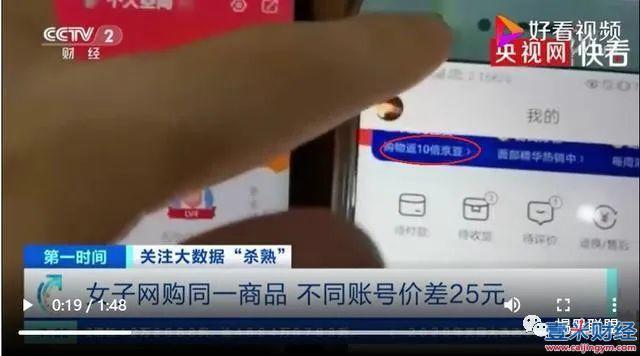 央视曝京东大数据杀熟:老用户不如狗,比新用户多花25元图