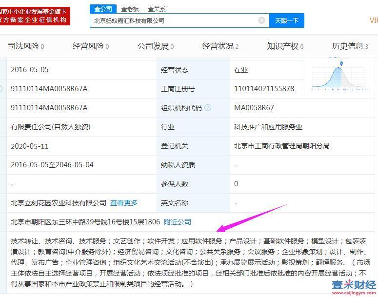 北京蚂蚁嘉汇科技是真的假的? 蚂蚁嘉汇股权值得投资吗?图